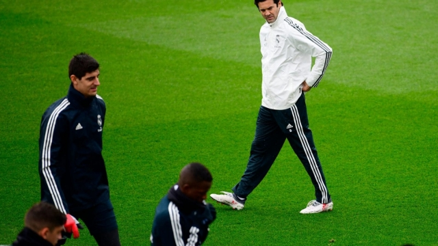 Solari took charge of Real Madrid first team training on Tuesday morning (Getty Images)