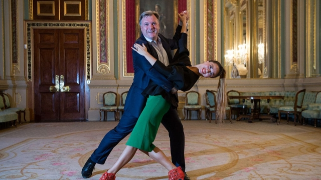 Ed Balls and Katya Jones, who he partnered with on Strictly (Photo: Getty)
