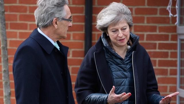 Prime Minister Theresa May and John Redwood, the outspoken Brexit backer (Photo: Getty)