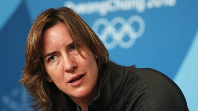 Article thumbnail: Dame Katherine Grainger attends a press conference at ahead of the PyeongChang 2018 Winter Olympic Games on 9 February 2018 (Getty Images)