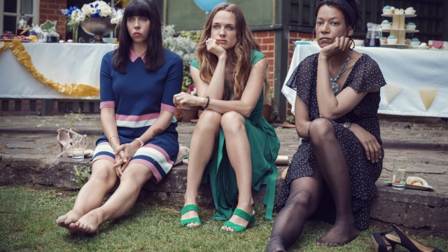 Eileen Walsh, Kerry Condon and Nina Sosanya (UKTV)