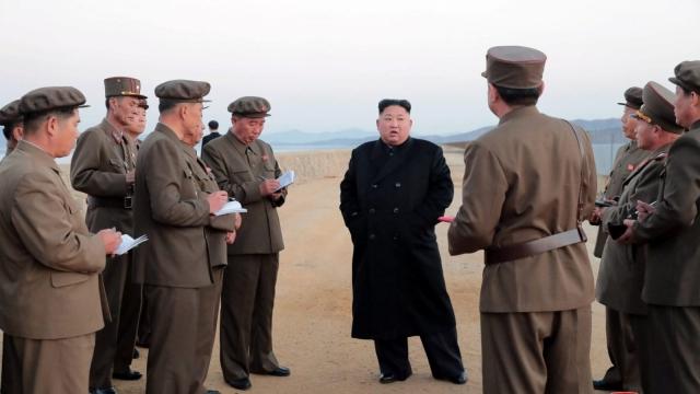 North Korean leader Kim Jong Un leads the testing (Photo: KCNA/Reuters)