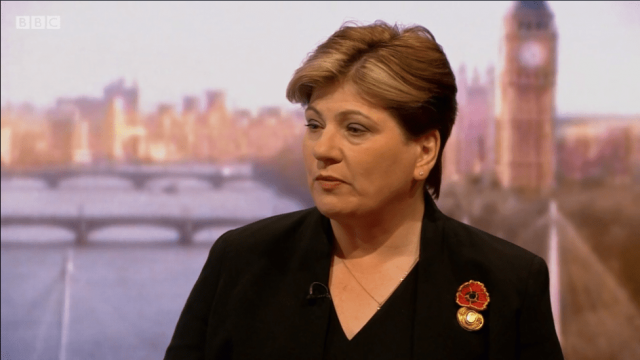 Emily Thornberry said Labour would campaign for a second referendum