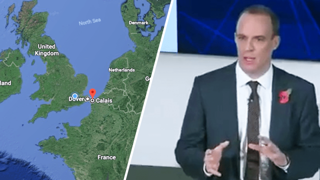Dominic Raab admitted this week that he didn't understand the importance of the Dover-Calais crossing. Imagine: Tech Nation / Google Maps
