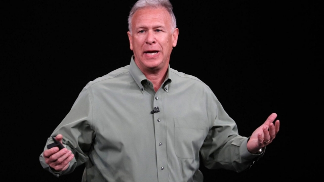 CUPERTINO, CALIFORNIA - SEPTEMBER 12: Phil Schiller, senior vice president of worldwide marketing at Apple Inc., speaks at an Apple event at the Steve Jobs Theater at Apple Park on September 12, 2018 in Cupertino, California. Apple is expected to announce new iPhones with larger screens as well as other product upgrades. (Photo by Justin Sullivan/Getty Images)