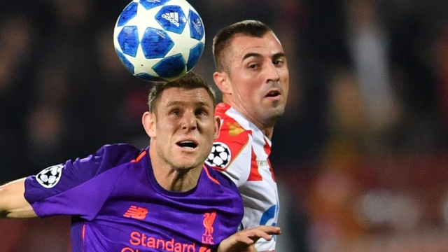 James Milner gave the ball away cheaply in the build-up to Red Star's second goal but was much-improved after the break (Getty Images)