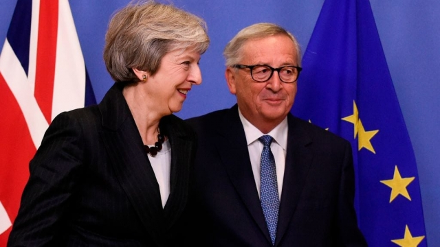 The British Prime Minister briefly escaped Westminster, just four days before the divorce deal is to be signed. (Getty)