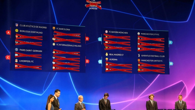 What the European superleague draw could look like, maybe