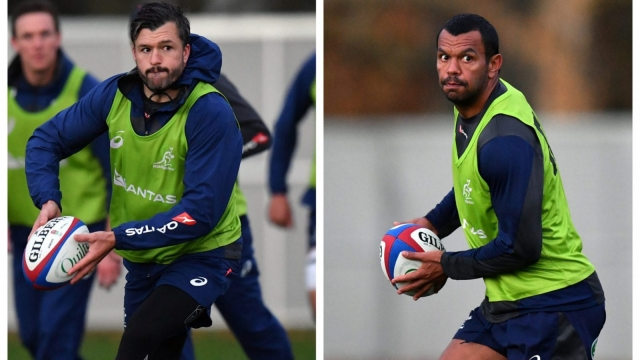 Adam Ashley-Cooper and Kurtley Beale have been dropped by Australia coach Michael Cheika for the Autumn International against England for disciplinary reasons (Getty Images)