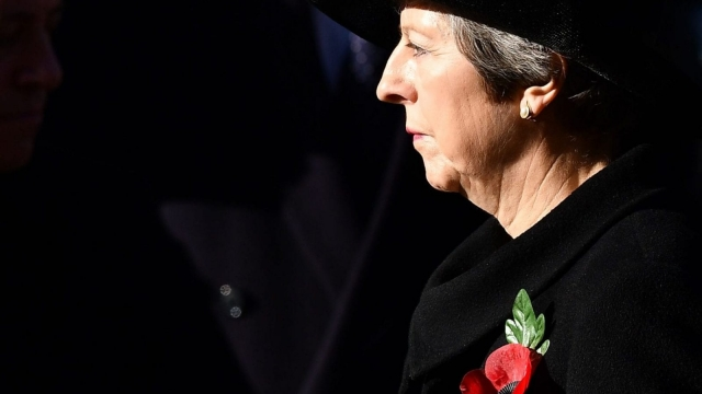 The Prime Minister is author of her own misfortune (Ben STANSALL / AFP)