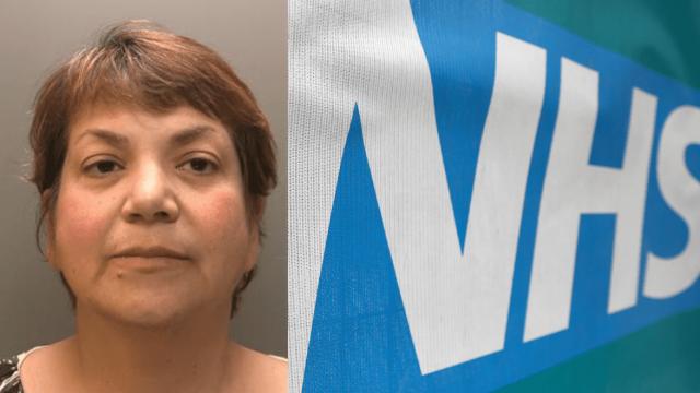 Zholia Alemi worked for the Cumbria NHS Trust (Cumbria Police/Reuters)