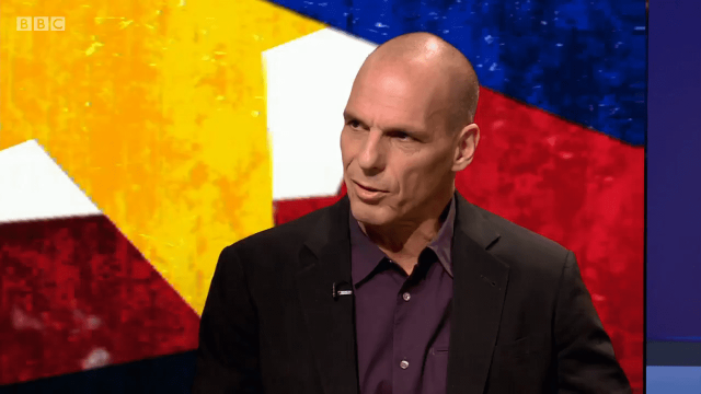Yanis Varoufakis said Norway-style Brexit would be a better option for the UK. (Image: BBC)