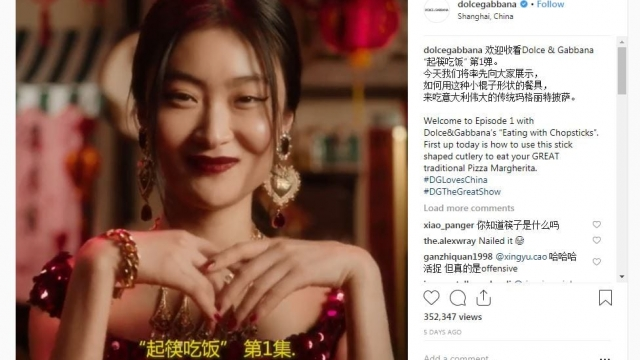 Dolce and Gabbana's latest advertising campaign has faced widespread criticism and accusations of racism. (Photo: Dolce and Gabbana Instagram screenshot)