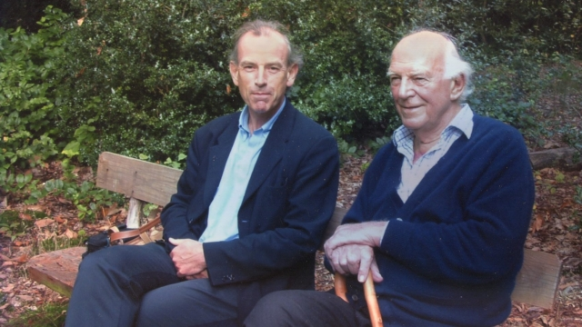 The author Tim Clark with his father, Bob, who fought behind enemy lines in the Second World War (Photo: Tim Clark)