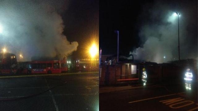 Bus fire Orpington