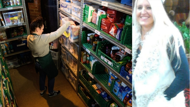 Helen (right) says she cant afford to make the journey to a food bank (left) (Photo: Helen's own and Getty)