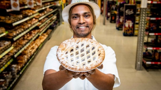 The supersize pie only costs £1.50 (Photo: Asda)