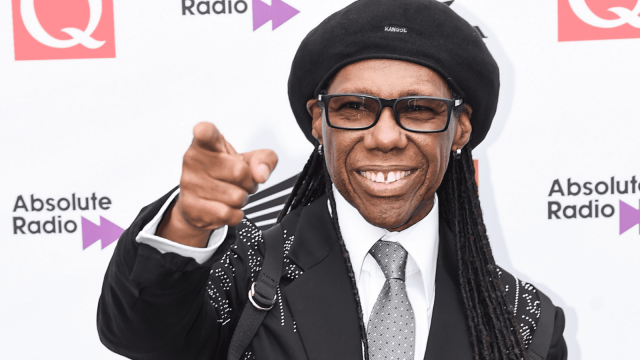 Nile Rodgers on the red carpet at the 2018 Q Awards