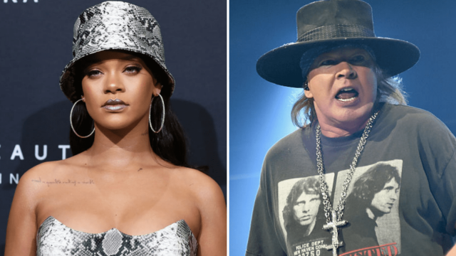 Rihanna and Axl Rose have both objected to President Trump using their music at US midterm rallies