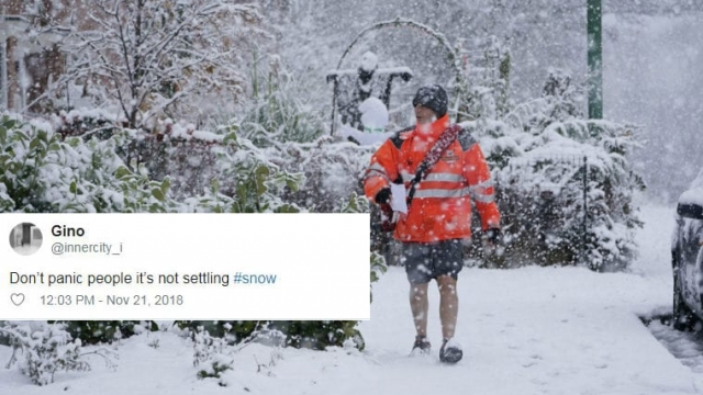 Snow in the UK tweet