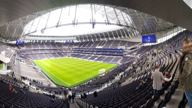 Spurs fans in the south-west corner of the new Tottenham Hotspur Stadium will be treated to this view, when the team finally begin playing here (Photo: Rob Hastings)