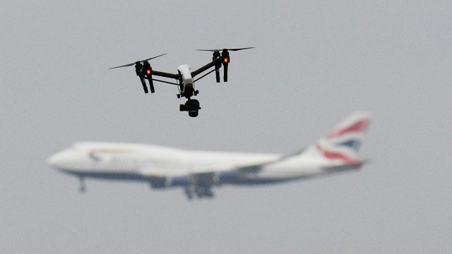 Flights at Gatwick Airport was disrupted for 36 hours by the drone menace. (PA)