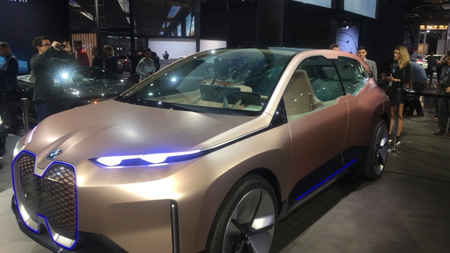 BMW's Vision iNEXT EV concept was monstrously huge (Photo: Jim McGill)