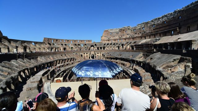 A general view shows tourists visiting the ancient Colosseum on June 28, 2016 in Rome. (Photo: Getty)