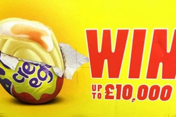One of Cadbury's white Creme Eggs is worth a whopping £10,000 (Photo: SWNS)