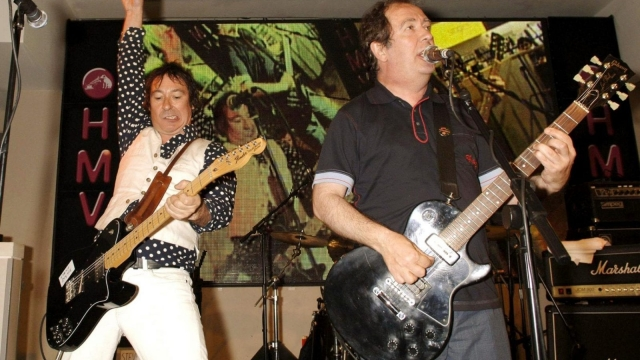 Pete Shelley of the Buzzcocks (right) performs with his bandmates (Photo: Getty)