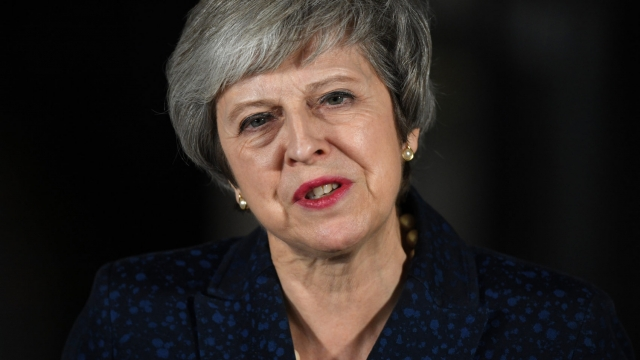 Theresa May won the vote of no confidence against her by 83 votes. (Photo by Leon Neal/Getty Image