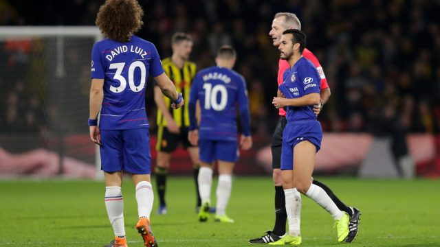 Pedro walks off injured during Chelsea's Boxing Day match against Watford (Getty Images)