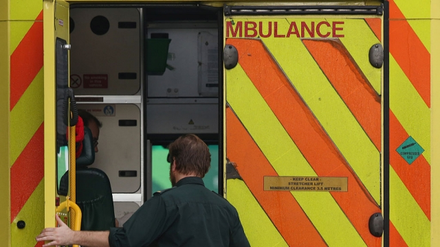 A medic opens an ambulance door outside the Accident and Emergency ward at St Thomas' Hospital (Photo by Dan Kitwood/Getty Images)