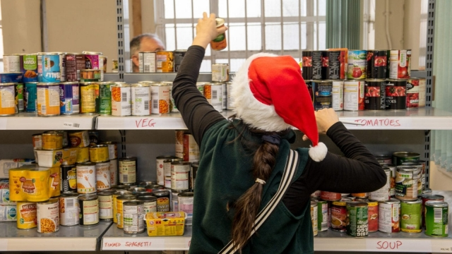 The Trussell Trust Food Bank In Liverpool Distributes Christmas Hampers
