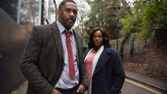 DCI John Luther (IDRIS ELBA), DS Halliday (WUNMI MOSAKU). (Photo: BBC TV Still)