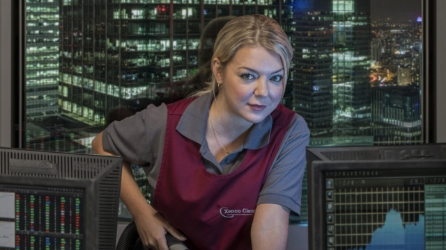 Sheridan Smith plays a City cleaner tempted by insider trading in ITV's Cleaning Up (Sister Pictures)