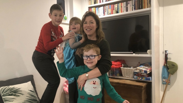 Georgina Fuller cuts back on stocking fillers because she says having three children under the age of 10 is very expensive (Photo: Georgina Fuller)