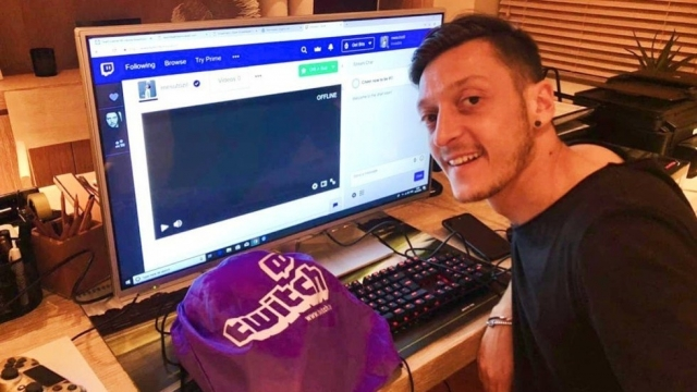 Mesut Ozil is nursing a back problem - rumoured to be caused by video gaming (Instagram)