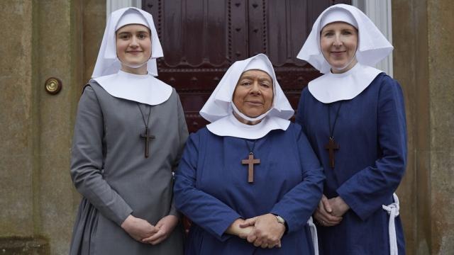 Sister Frances (ELLA BRUCCOLERI), Sister Mildred (MIRIAM MARGOLYES), Sister Hilda (FENELLA) - (Photo: Neal Street Productions)
