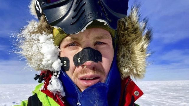 US explorer Colin O'Brady has become the first person to traverse Antarctica alone without any assistance (Colin O'Brady via AP)