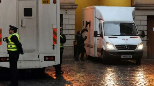 A G4S van leaving Edinburgh Sheriff Court (Photo: Ian Rutherford)