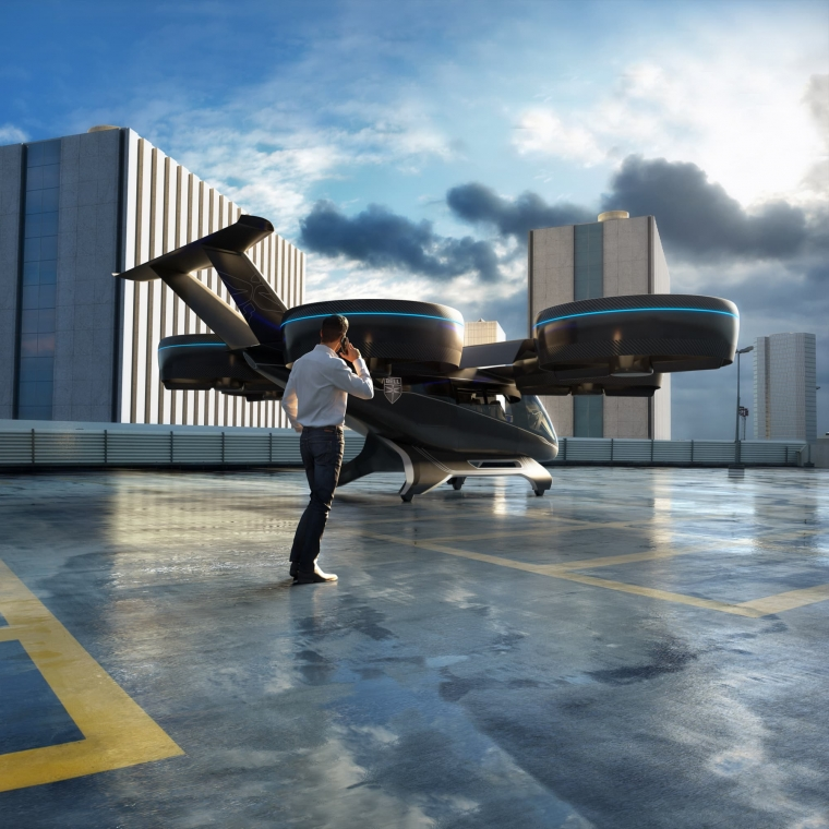 The Bell Nexus could take off from rooftops or launchpads (Photo: Bell)