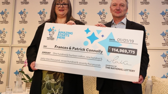 Euromillions winners Mr and Mrs Connolly (Liam McBurney/PA Wire)