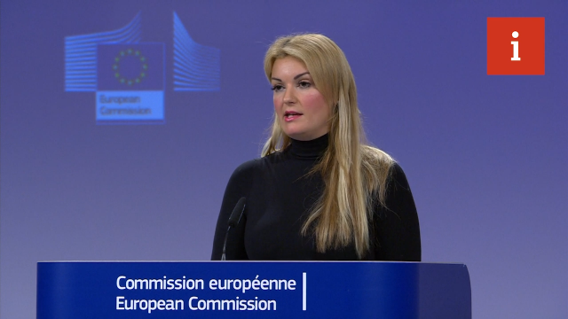 Mina Andreeva todk reporters the EU would not reopen the deal on the UK's behest. (Image: European Commission. )
