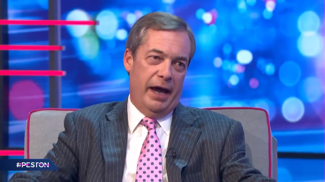 Article thumbnail: Nigel Farage says he is forming a new party.(Image: ITV)