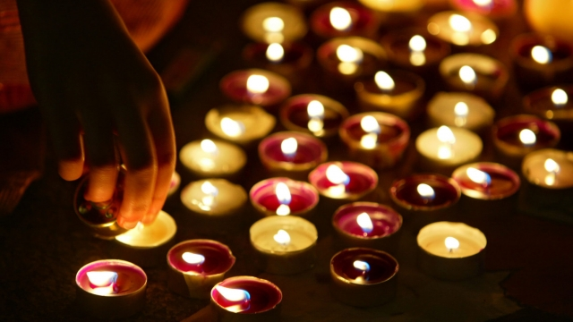 Scented candles typically contain hazardous chemicals which can spread through the air of your home when lit (Photo: Getty Images)