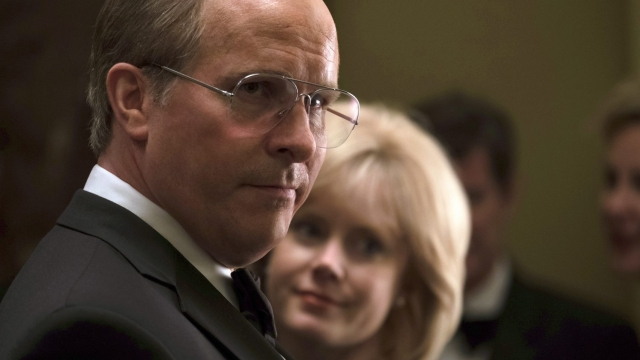 """Christian Bale as Dick Cheney, left, and Amy Adams as Lynne Cheney in a scene from """"Vice."""" (Matt Kennedy/Annapurna Pictures via AP)"""
