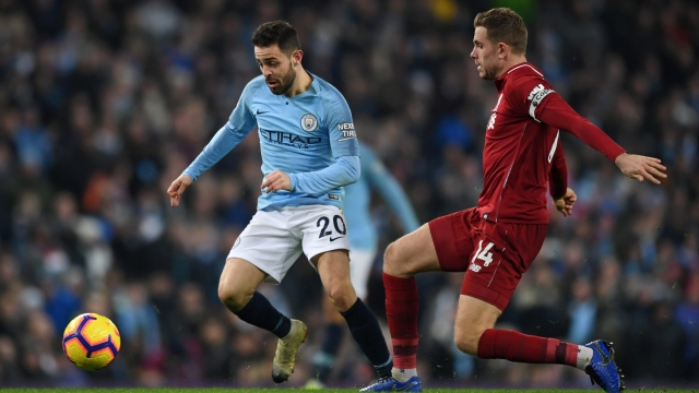 On the ball: Bernardo Silva was crucial in Man City's win over Liverpool last week (Getty Images)