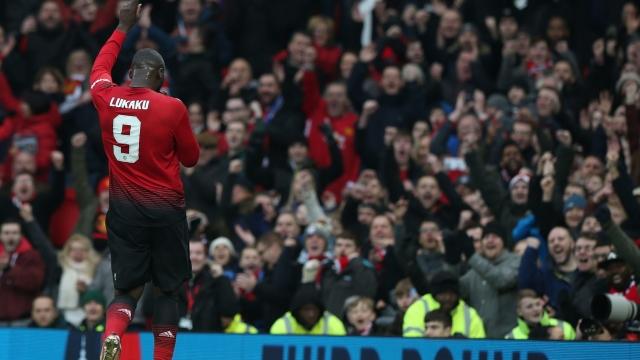 Romelu Lukaku doubled Man United's advantage against the Royals