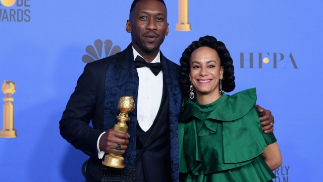 Best Motion Picture, Musical or Comedy, award for 'Green Book' winner Mahershala Ali (L) and Amatus Sami-Karim (Getty)